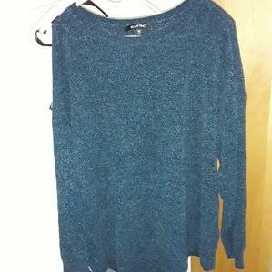 New Ellen Tracy Blue Sweater xl